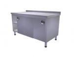 Masa de lucru cu dulap usi glisante si polita intermediara 150x60x85cm