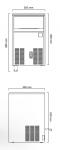 Masina cuburi de gheata 52kg/24h model CS50 racire aer 50x58x80cm