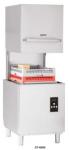 Masina de spalat vase profesionala cu capota TECH-LINE,40 cosuri/h,cos 50x50cm,pompa clatire si pompa evacuare incluse,67.5x67.5x142cm