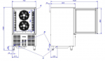Blast Chiller/Abatitor inox 10 GN 1/1 model EBC-10 2kw-230V 79x80.6x142cm