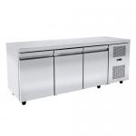 Masa inox frigorifica profesionala cu 3 usi 458litri 185x70x88cm NIKIINOX