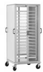 Carucior neutru pentru transport farfurii montate, 10 rafturi gn 2/1, 75x78x170cm