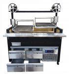 Gratar Argentian Show cooking  Negru cu 2 lifturi manuale 156 cm