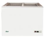 Lada depozitare congelată 195lt, alb, 2 uși glisante de sticla, 89.5x55.5x81cm