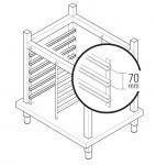 Suport Inox Pentru Cuptor Electric 4 tavi